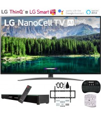 "LG 49SM8600PUA 49"" 4K HDR Smart LED NanoCell TV w/ AI ThinQ (2019) Includes Deco Gear Home Theater Surround Sound 31"" Soundbar & Ultimate Wall Mount Accessory Bundle (SM8600PUA 49SM8600P 49SM8600)"