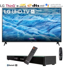 "LG 49UM7300PUA 49"" 4K HDR Smart LED IPS TV w/ AI ThinQ (2019) Includes Deco Gear Home Theater Surround Sound 31"" Soundbar (UM7300PUA 49UM7300P 49UM7300)"