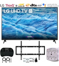 "LG 49UM7300PUA 49"" 4K HDR Smart LED IPS TV w/ AI ThinQ (2019) Includes Flat Wall Mount & Wireless Keyboard Ultimate Bundle (UM7300PUA 49UM7300P 49UM7300)"
