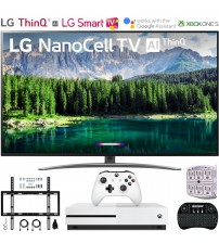 "LG 55SM8600PUA 55"" 4K HDR Smart LED NanoCell TV w/ AI ThinQ (2019 Model) Includes Microsoft Xbox One S 1TB & Ultimate Wall Mount Accessory Bundle (SM8600PUA 55SM8600P 55SM8600)"