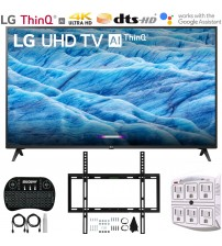 "LG 55UM7300PUA 55"" 4K HDR Smart LED IPS TV w/ AI ThinQ (2019) Includes Flat Wall Mount & Wireless Keyboard Ultimate Bundle (UM7300PUA 55UM7300P 55UM7300)"