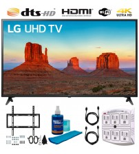 "LG 60UK6090 60"" 4K HDR Smart LED UHD TV w HDR Includes Flat Wall Mount & Wireless Keyboard Ultimate Bundle (UK6090PUA 60UK6090P 60UK6090)"