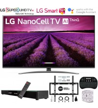 "LG 65SM8100AUA 65"" 4K HDR Smart LED NanoCell TV w/ AI ThinQ (2019) Includes Deco Gear Home Theater Surround Sound 31"" Soundbar & Ultimate Wall Mount Accessory Bundle (SM8100AUA 65SM8100A 65SM8100)"