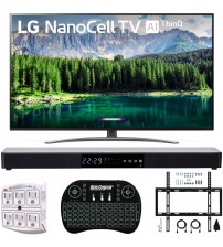 "LG 65SM8600PUA 65"" 4K HDR Smart LED NanoCell TV w/ AI ThinQ (2019) Includes Deco Gear Home Theater Surround Sound 31"" Soundbar & Ultimate Wall Mount Accessory Bundle (SM8600PUA 65SM8600P 65SM8600)"