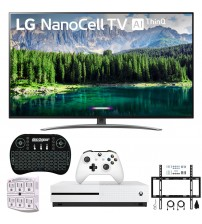 "LG 65SM8600PUA 65"" 4K HDR Smart LED NanoCell TV w/ AI ThinQ (2019 Model) Includes Microsoft Xbox One S 1TB & Ultimate Wall Mount Accessory Bundle (SM8600PUA 65SM8600P 65SM8600)"