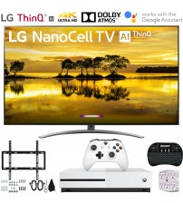"LG 65SM9000PUA 65"" 4K HDR Smart LED NanoCell TV w/ AI ThinQ (2019 Model) Includes Microsoft Xbox One S 1TB & Ultimate Wall Mount Accessory Bundle (SM9000PUA 65SM9000P 65SM9000)"