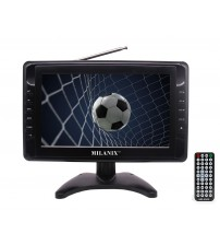"""Milanix 9"""" Portable Widescreen LCD TV with Detachable Antennas, USB/SD Card Slot, Built in Digital Tuner, and AV Inputs"""