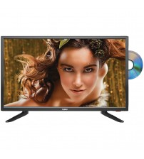 """Naxa NTD-2457A 24"""" LED TV + DVD/Media Player Combination With Car Package & UPG AA 50 Pack"""