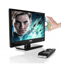 PYLE PTVDLED16 - 15.6'' LED TV - HD Television with Built-in CD/DVD Player, 1080p Support