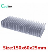 (Special offer) 150x60x25mm radiator Aluminum heatsink Extruded heat sink for LED Electronic heat dissipation cooling cooler