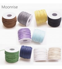 1.5mm 15m/35m Waxed Cotton Cord Beading Cord Waxed String Wax Cord for Jewelry Making and Macrame Supplies Roll Spool HK055